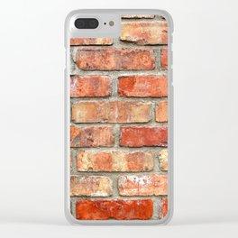 Red Bricks Clear iPhone Case