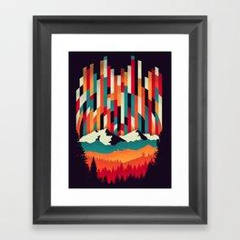 Sunset in Vertical Multicolor Framed Art Print