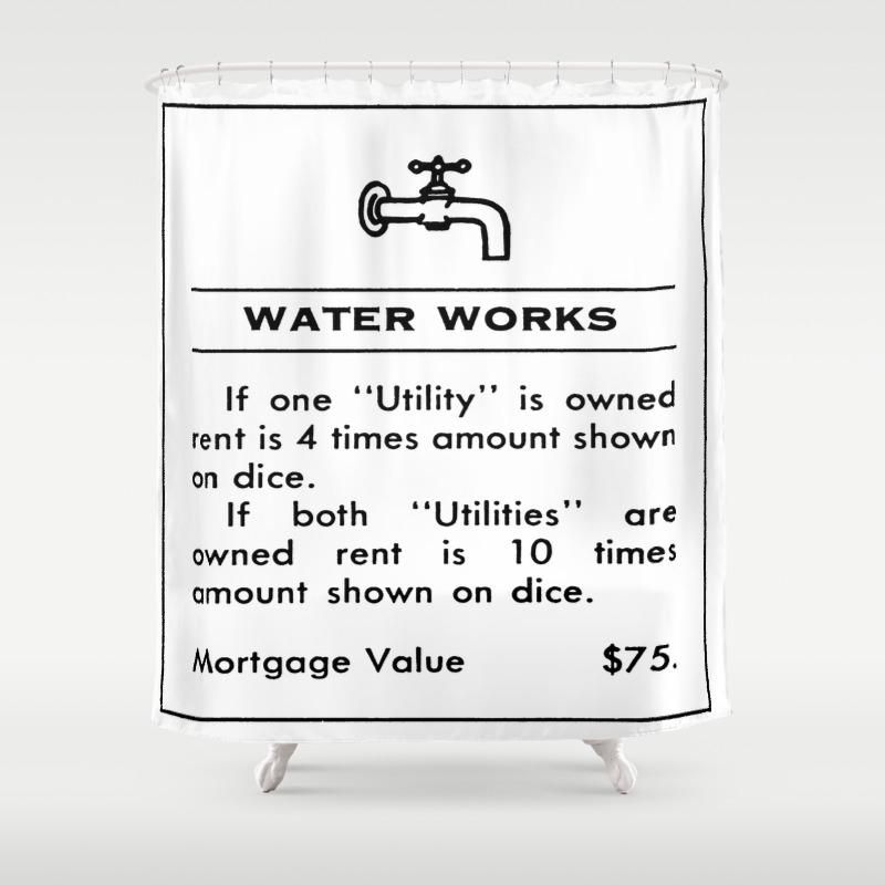 Waterworks Shower Curtain