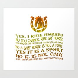 The Best Horse Ever! Art Print