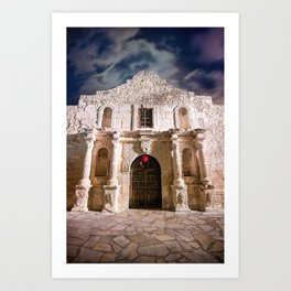 Color - Alamo, San Antonio, Texas Art Print