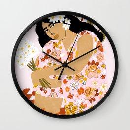 Bohemian Lady Wall Clock