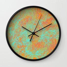 River Print - Yellow Green & Orange Palette Wall Clock