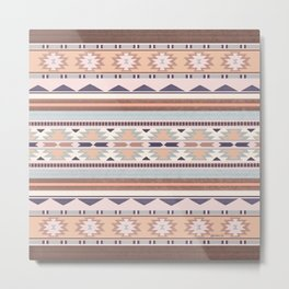 Blush South Western Pattern Metal Print