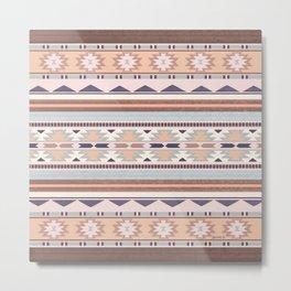 Blush South Western Pattern Metal Print