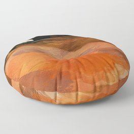 landscape in fall abstract art Floor Pillow