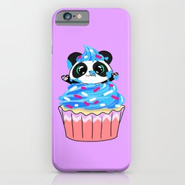 A Panda Popping out of a Cupcake iPhone Case