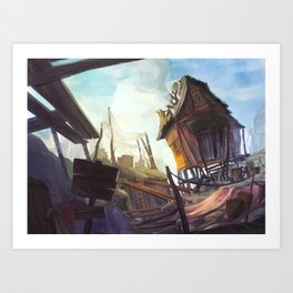 Ramshackle Mining Shack Art Print