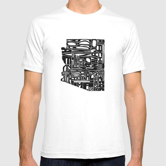 Typographic Arizona T-shirt