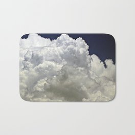 navy cloud Bath Mat