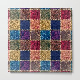 Flap-flops patchwork Metal Print