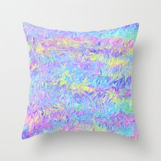 Four Colors Throw Pillow
