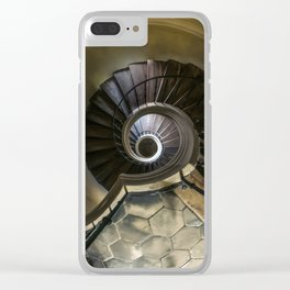 Circles and spirals Clear iPhone Case