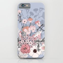 Bouquet of wild flowers. Petunias, lupines, pansies. iPhone Case