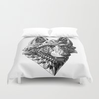 german Duvet Covers featuring German Shepherd by BIOWORKZ