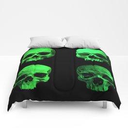 Skull quartet green Comforters
