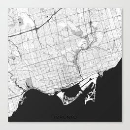 Toronto Map Gray Canvas Print