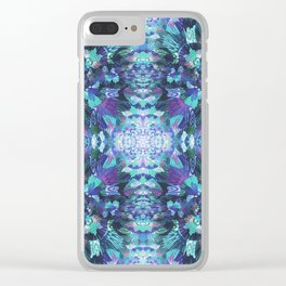 Abstract Floral Burst Clear iPhone Case