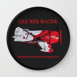 Gee Bee racer 1931 Wall Clock