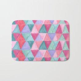 pastel triangle pattern Bath Mat