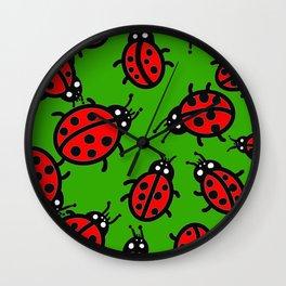 Lady Bugs Wall Clock