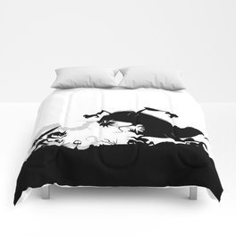 Silhouette of Conflict Comforters