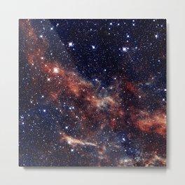 Vermilion Nebula Metal Print