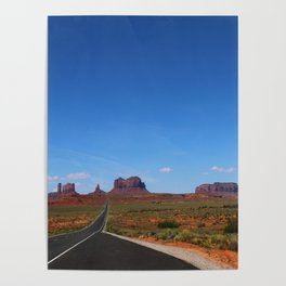 Traveling On Highway 163 Poster