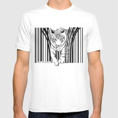 Tigers extinct in 12 years? MEDIUM White Mens Fitted Tee