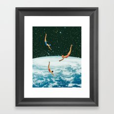 Space jumps Framed Art Print