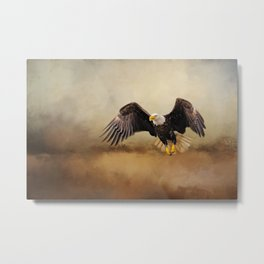 Bald Eagle Flying Above The Storm Metal Print