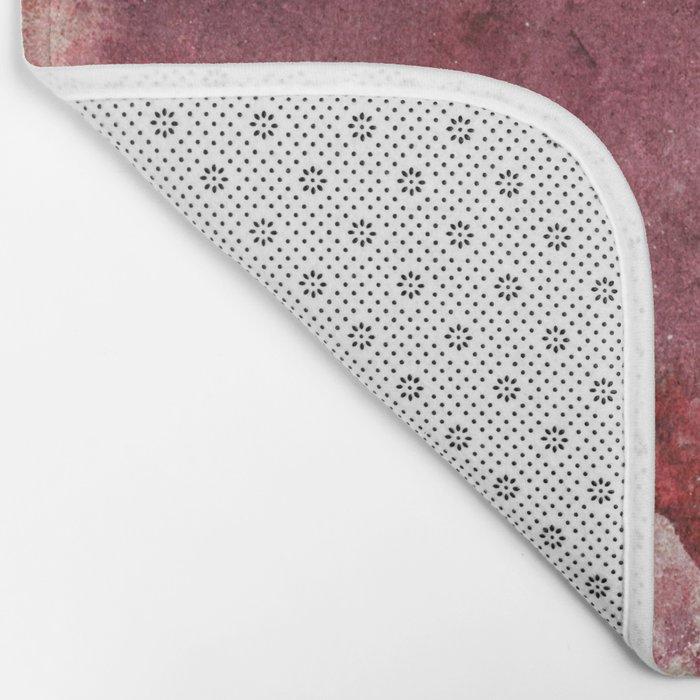 Garnet Color Splash Bath Mat