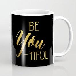 BeYoutiful Gold Foil Coffee Mug