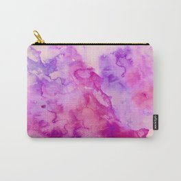 Modern abstract pink purple watercolor wash paint Carry-All Pouch