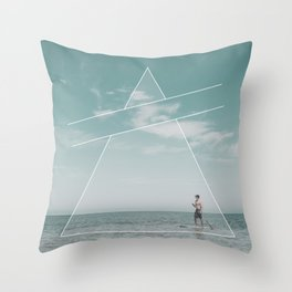 Paddle Triangle Throw Pillow