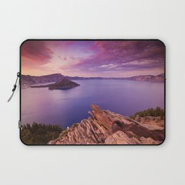 Crater Lake Sunset Laptop Sleeve