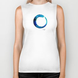 Enso Of Zen No. 20 by Kathy Morton Stanion Biker Tank