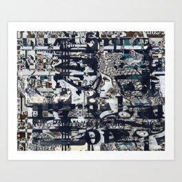Screen Grid, Tile 1 Art Print
