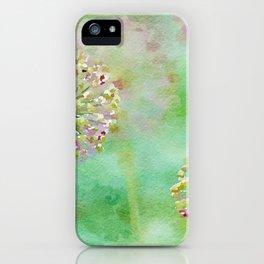 Allum Watercolor iPhone Case