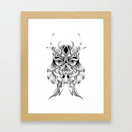 GRAPHITE OWL Framed Art Print