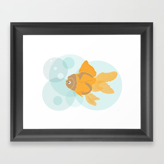 Golden Fish Framed Art Print
