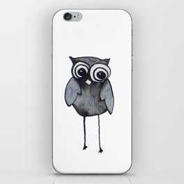 The Friendly Owl - White Background iPhone Skin