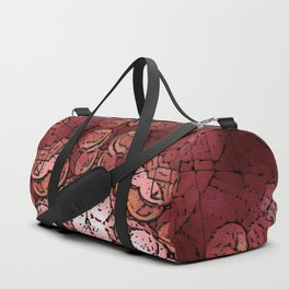 Mandala of Opposites: Warm - Cold, Soft - Hard, Light - Dark Duffle Bag
