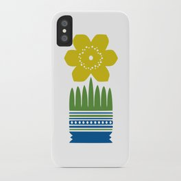 Nordic Yellow Flower iPhone Case
