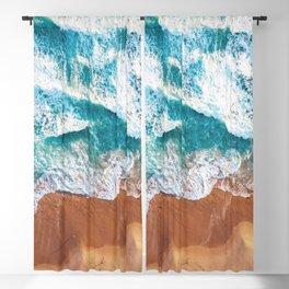 Ocean Aerial Art Blackout Curtain