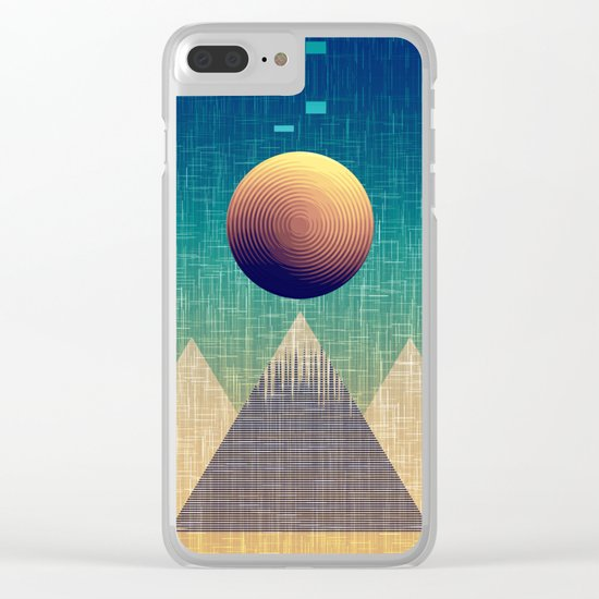 Moonrise Abstract Clear iPhone Case