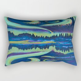 Yellowknife Aurora Rectangular Pillow