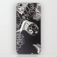 turtle iPhone & iPod Skins featuring Turtle by Wellydog