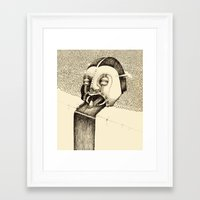 fall Framed Art Prints featuring 'Fall' by Alex G Griffiths