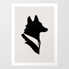 Monsieur Renard / Mr Fox - Animal Silhouette Art Print